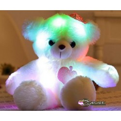 """OURS  teddy PELUCHE """" MULTI COLOR """"fille"""