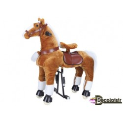 "CHEVAL  ""FUN cheval MARRON-GRAND"