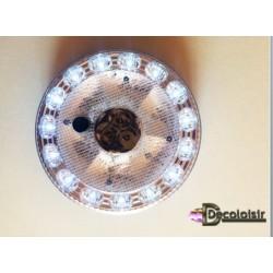 SOCLE à LEDS fixe multifonctions diametre 13,5 cm piles